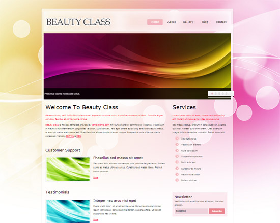 45 High Quality Free HTML/CSS Templates from 2011 and 2012