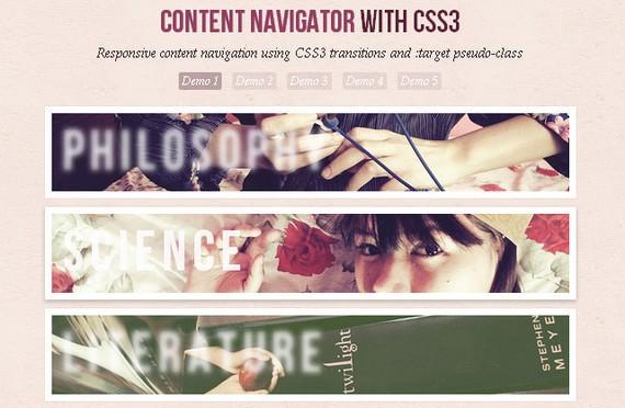 Responsive Content Navigator con CSS3