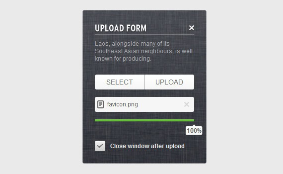 Create an Upload Form using CSS3, HTML5 and jQuery