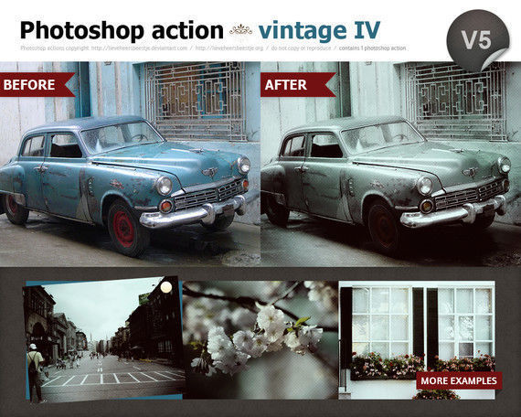 Photoshop vintage action IV