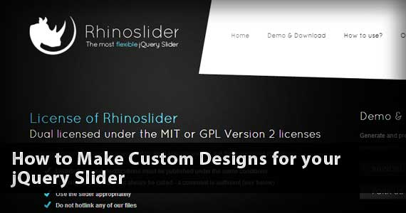 How to Make Custom Designs for your jQuery Slider