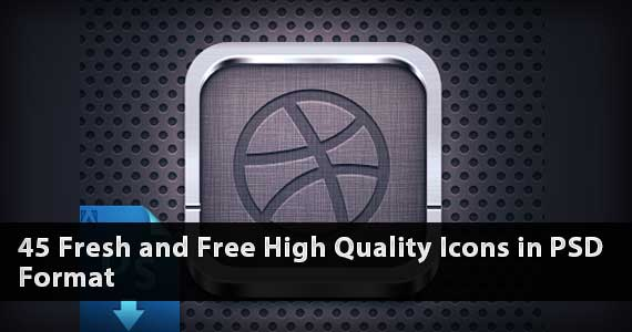 45 Fresh and Free High Quality Icons in PSD Format