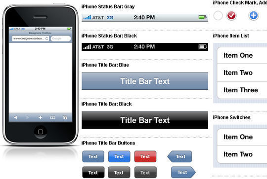 iPhone GUI Elements