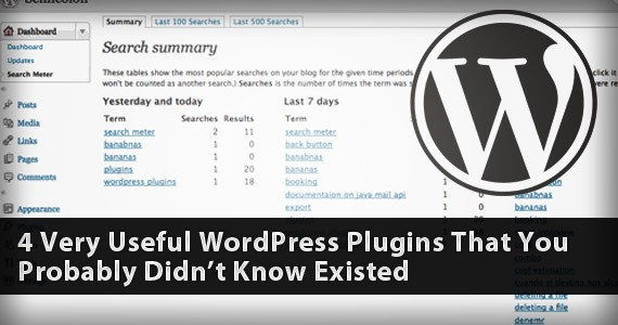 4 Very Useful WordPress Plugins That You Probably Didn't Know Existed