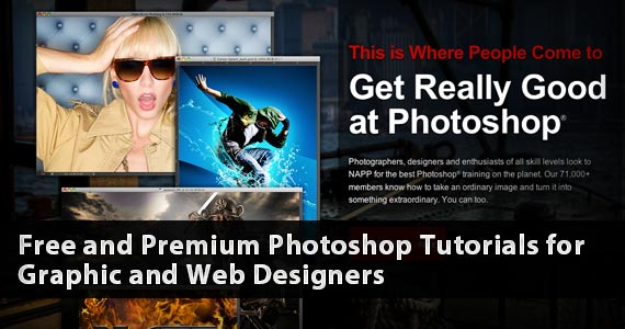 Free and Premium Photoshop Tutorials for Graphic and Web Designers