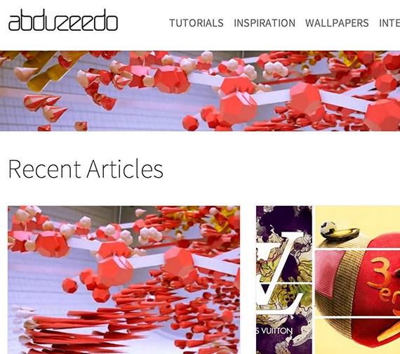 Abduzeedo web design blog top blogs follow