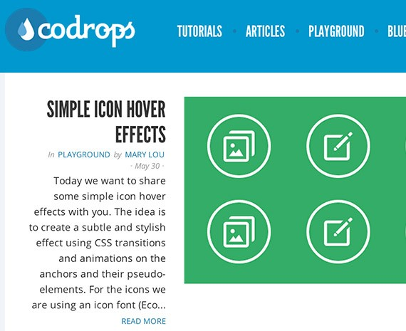Codrops web design blog top blogs follow
