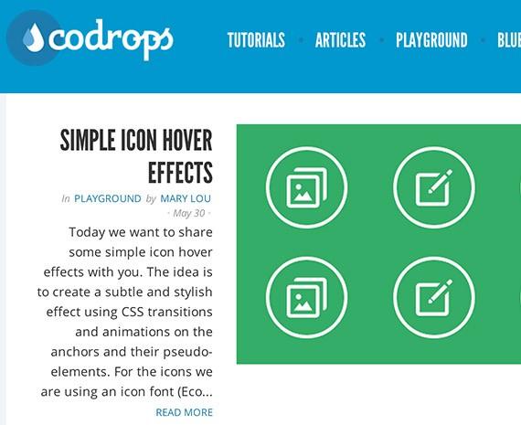 Codrops web design blog top blogs follow