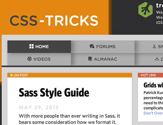 Csstricks web design blog top blogs follow