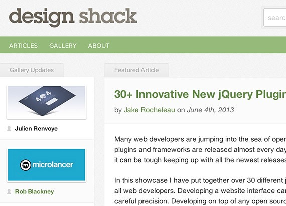 Designshack web design blog top blogs follow