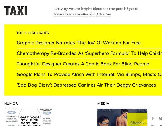 Designtaxi web design blog top blogs follow
