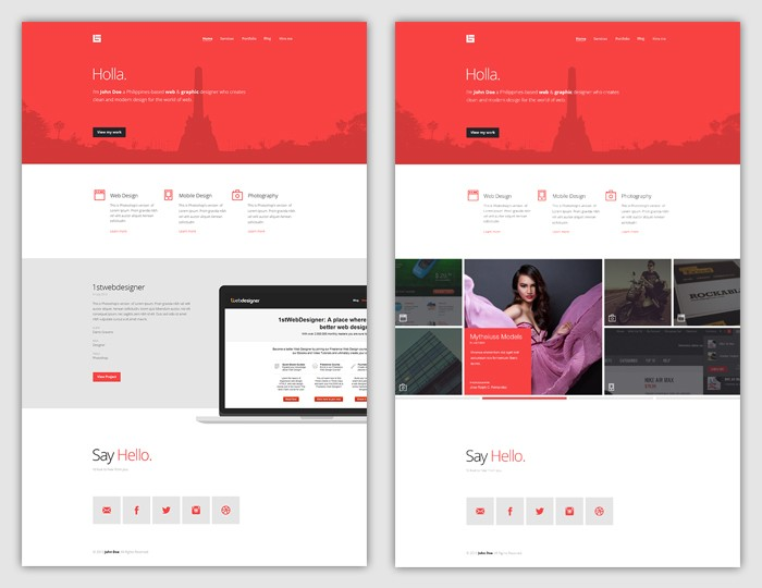 Free web design portfolio wordpress theme