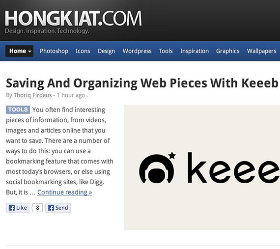Hongkiat web design blog top blogs follow