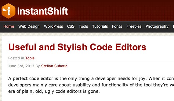 Instantshift web design blog top blogs follow