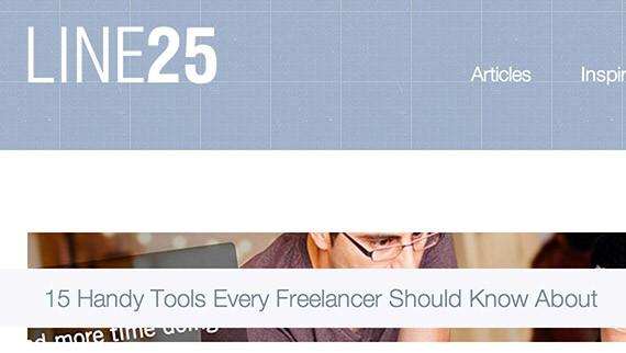 Line25 web design blog top blogs follow