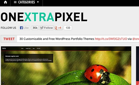 Onextrapixel web design blog top blogs follow