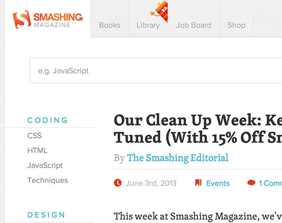 Smashingmagazine website design blog