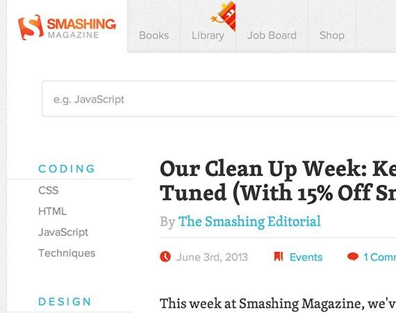 Smashingmagazine web design blog top blogs follow