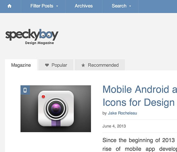 Speckyboy web design blog top blogs follow