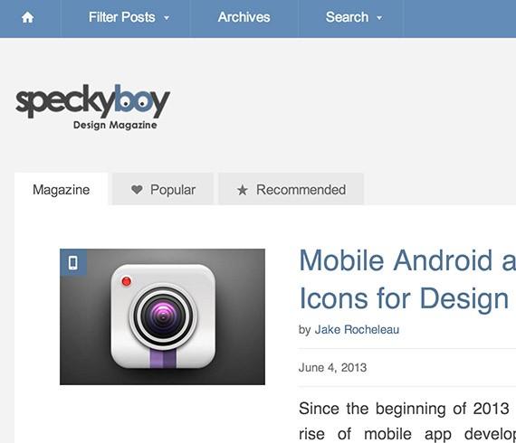 Speckyboy web design blog top blogs follow