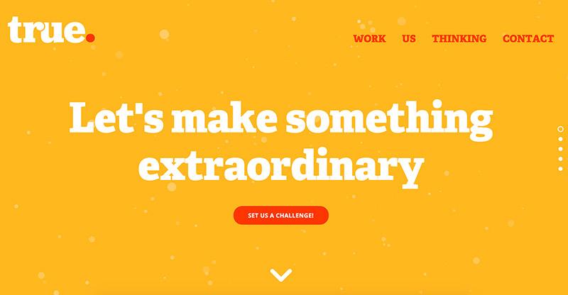 True - flat web design inspirational website