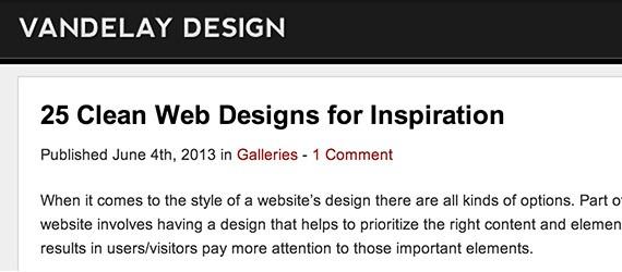 Vandelay web design blog top blogs follow