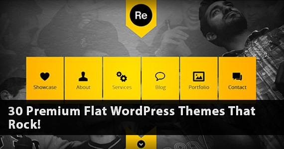 30 Premium Flat WordPress Themes That Rock!