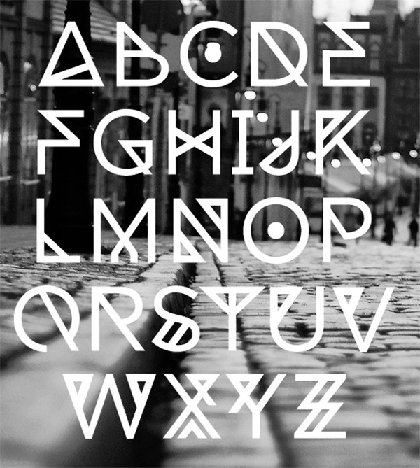 free modern font typeface family 107