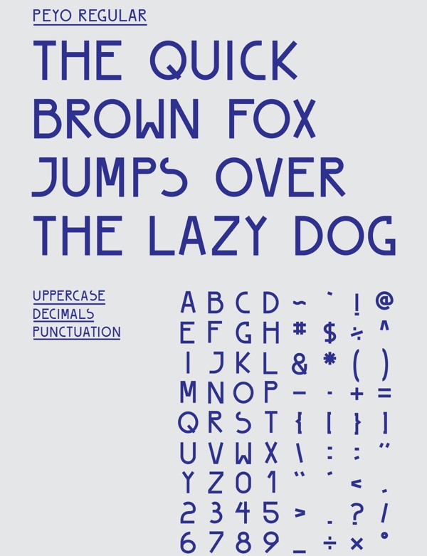 free modern font typeface family 137