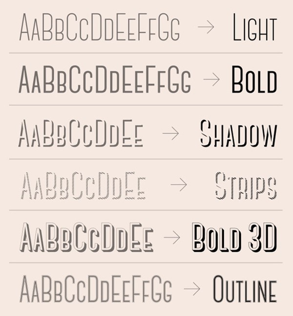 free modern font typeface family 86