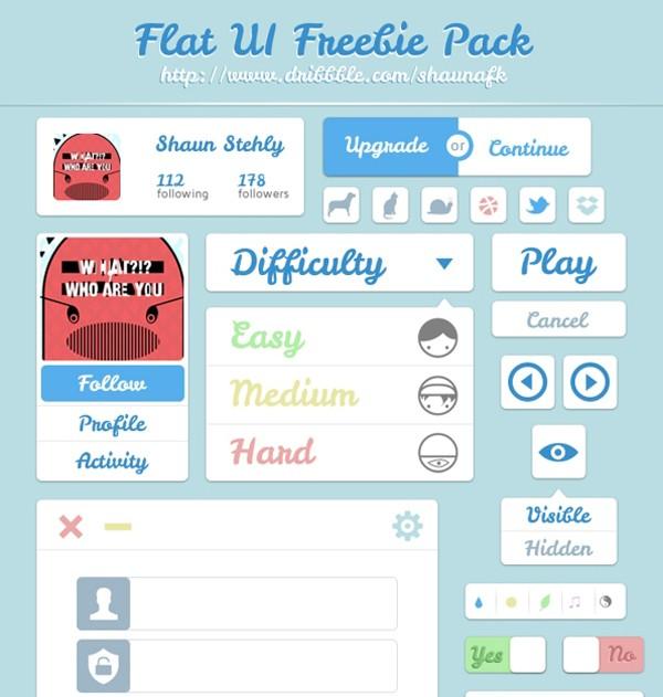 free-flat-UI-kit-31