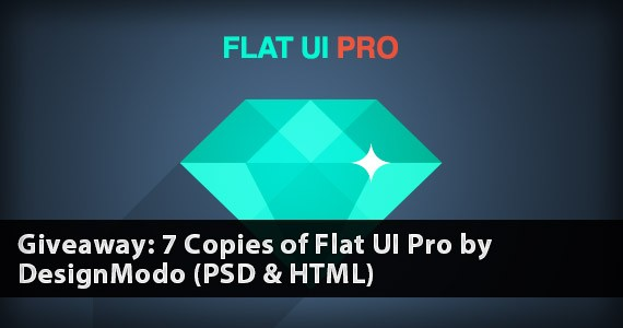Giveaway: 7 Copies of Flat UI Pro by DesignModo (PSD & HTML) [Ended]