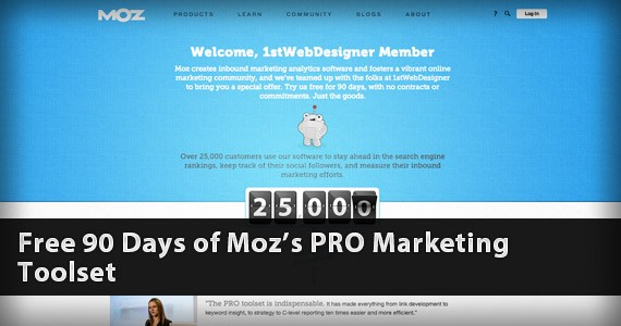 Free 90 Days of Moz's PRO Marketing Toolset