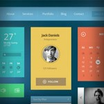 106 Free Flat UI Kits to Boost Your Designs in No Time