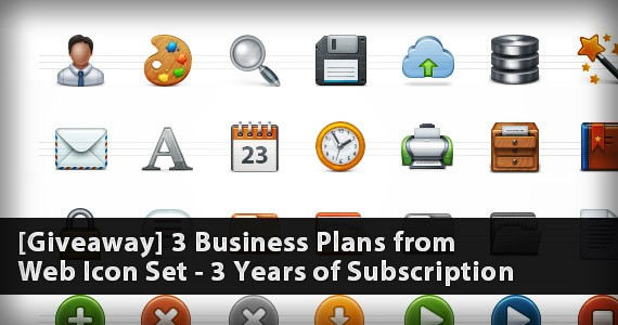 [Giveaway] 3 Business Plans from Web Icon Set – 3 Years of Subscription [Ended]