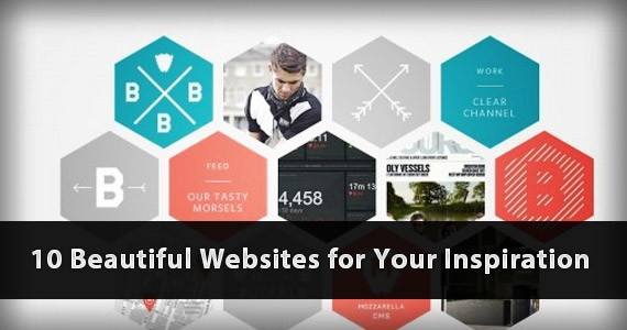 10 Extremely Beautiful Websites for Your Inspiration