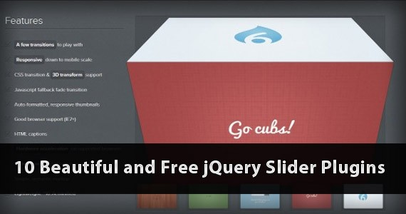 10 Impressive and Free jQuery Slider Plugins
