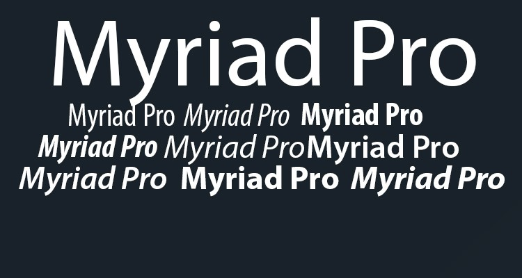 Myriad Pro Black Download For Free View Sample Text Rating And More On