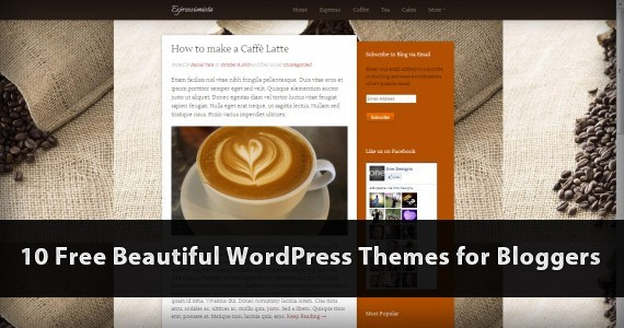 10 Free Stunning WordPress Themes for Bloggers