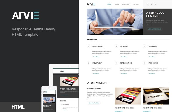 arvie-flat-responsive-html-template