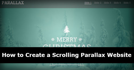 How to Create a Scrolling Parallax Website