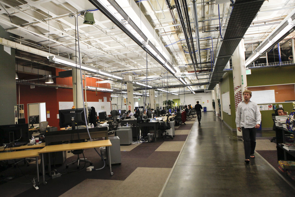 Offices at Facebook headquarters in Palo