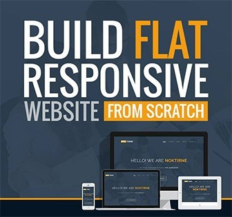 build flat responsive website
