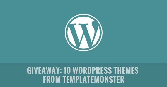 Giveaway: 10 WordPress Themes from TemplateMonster