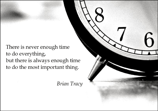 Time most important thing