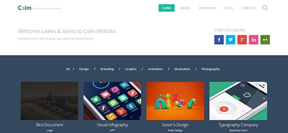 free responive web template html css Calm