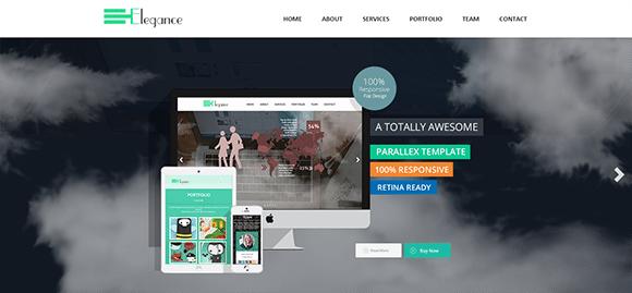 free responive web template html css Elegance