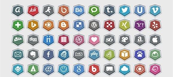 Embossed Free Social Media Icons