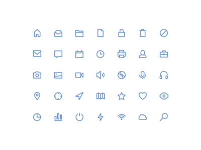 Freebies stroke icons