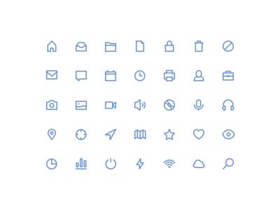 Freebies stroke icons